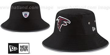 Falcons '2017 NFL TRAINING BUCKET' Black Hat by New Era