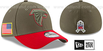 Falcons 2017 SALUTE-TO-SERVICE FLEX Green-Red Hat by New Era
