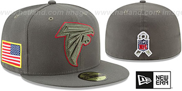 Falcons '2017 SALUTE-TO-SERVICE' Green Fitted Hat by New Era