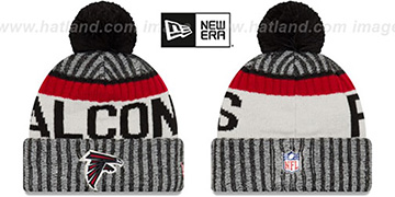 Falcons '2017 STADIUM BEANIE' Black Knit Hat by New Era
