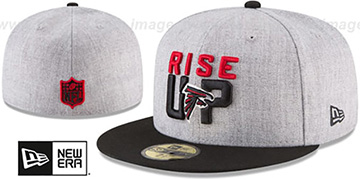 Falcons 2018 ONSTAGE Grey-Black Fitted Hat by New Era