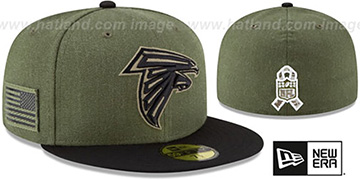 Falcons 2018 SALUTE-TO-SERVICE Olive-Black Fitted Hat by New Era