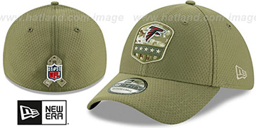 Falcons 2019 SALUTE-TO-SERVICE FLEX Olive Hat by New Era