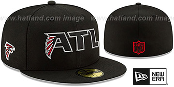 Falcons 2020 NFL VIRTUAL DRAFT Black Fitted Hat by New Era