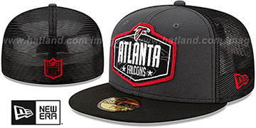 Falcons 2021 NFL TRUCKER DRAFT Fitted Hat by New Era