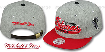 Falcons 2T TAILSWEEPER STRAPBACK Grey-Red Hat by Mitchell & Ness