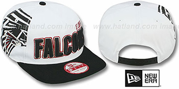 Falcons 'BIGSIDE A-FRAME SNAPBACK' White-Black Hat by New Era