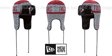 Falcons FROSTWORK TRAPPER Red Knit Hat by New Era