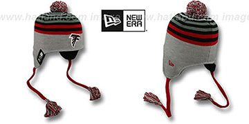 Falcons GREY STRIPETOP Knit Beanie Hat by New Era