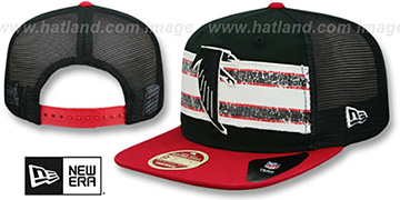 Falcons 'HERITAGE-STRIPE SNAPBACK' Black-Red Hat by New Era
