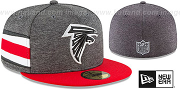Falcons HOME ONFIELD STADIUM Charcoal-Red Fitted Hat by New Era