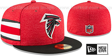 Falcons HOME ONFIELD STADIUM Red-Black Fitted Hat by New Era