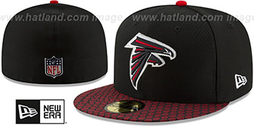 Falcons 'HONEYCOMB STADIUM' Black Fitted Hat by New Era