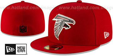 Falcons METAL-N-THREAD Red Fitted Hat by New Era