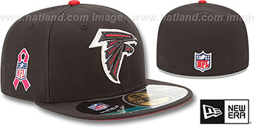 Falcons NFL BCA Black Fitted Hat by New Era