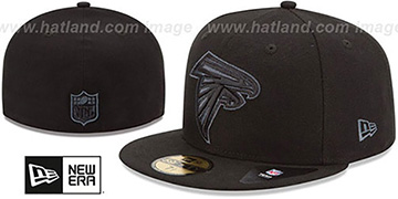 Falcons 'NFL FADEOUT-BASIC' Black Fitted Hat by New Era