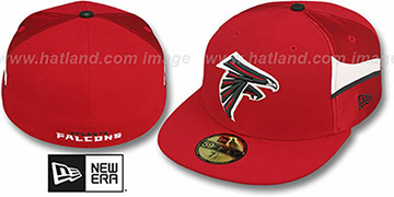 Falcons NFL JERSEY-STRIPE Red Fitted Hat by New Era