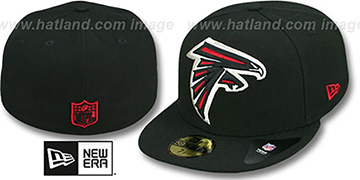 Falcons NFL 'MIGHTY-XL' Black Fitted Hat by New Era
