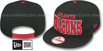 Falcons 'NFL SOLID SNAPBACK' Black Hat by New Era