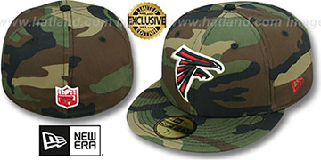 Falcons NFL TEAM-BASIC Army Camo Fitted Hat by New Era