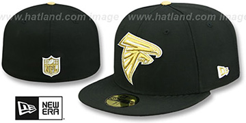 Falcons NFL TEAM-BASIC Black-Gold Fitted Hat by New Era