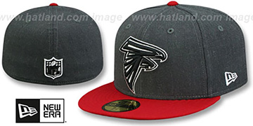 Falcons 'NFL TEAM-BASIC' Charcoal-Red Fitted Hat by New Era