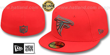 Falcons 'NFL TEAM-BASIC' Fire Red-Charcoal Fitted Hat by New Era