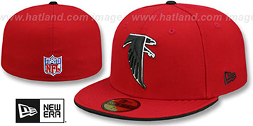 Falcons 'NFL THROWBACK TEAM-FLIP' Red Fitted Hat by New Era
