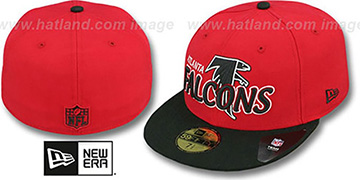 Falcons 'NFL-TIGHT' Red-Black Fitted Hat by New Era