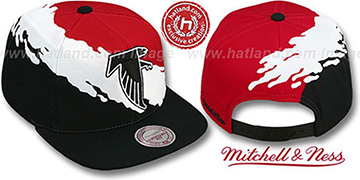 Falcons 'PAINTBRUSH SNAPBACK' Red-White-Black Hat by Mitchell & Ness