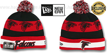 Falcons REPEATER SCRIPT Knit Beanie Hat by New Era