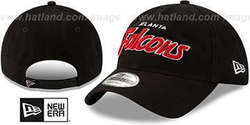 Falcons RETRO-SCRIPT SNAPBACK Black Hat by New Era