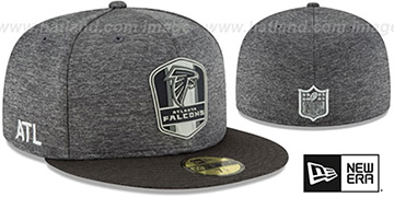 Falcons 'ROAD ONFIELD STADIUM' Charcoal-Black Fitted Hat by New Era