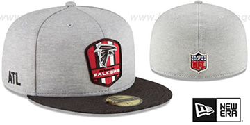 Falcons 'ROAD ONFIELD STADIUM' Grey-Black Fitted Hat by New Era