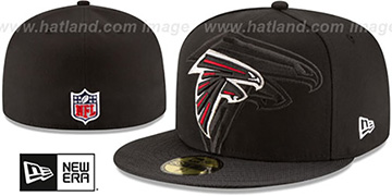 Falcons 'STADIUM SHADOW' Black Fitted Hat by New Era