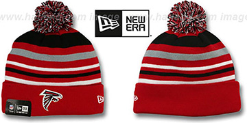 Falcons 'STRIPEOUT' Knit Beanie Hat by New Era