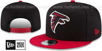 Falcons TEAM-BASIC SNAPBACK Black-Red Hat by New Era