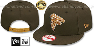 Falcons TEAM-BASIC SNAPBACK Brown-Wheat Hat by New Era