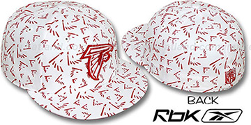 Falcons 'TEAM-FLOCKING ALL-OVER' White Fitted Hat by Reebok
