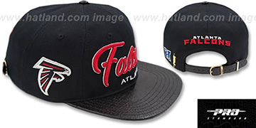 Falcons TEAM-SCRIPT STRAPBACK Black Hat by Pro Standard