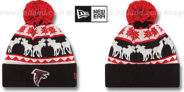 Falcons THE-MOOSER Knit Beanie Hat by New Era