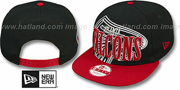 Falcons THROUGH SNAPBACK Black-Red Hat by New Era