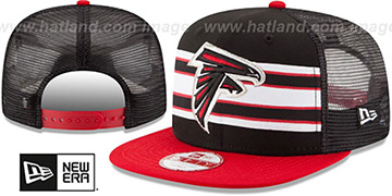 Falcons 'THROWBACK-STRIPE SNAPBACK' Black-Red Hat by New Era
