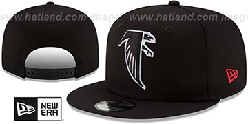Falcons 'THROWBACK TEAM-BASIC SNAPBACK' Black Hat by New Era