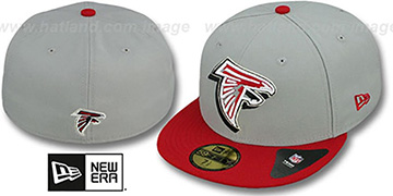 Falcons 'TRACE-POP' Grey-Red Fitted Hat by New Era