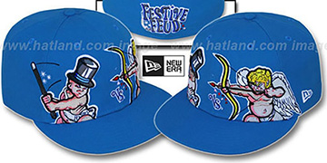 Festive Feud BABY NEW YEAR vs CUPID Blue Fitted Hat by New Era