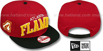 Flames CHENILLE-ARCH SNAPBACK Red-Black Hat by New Era