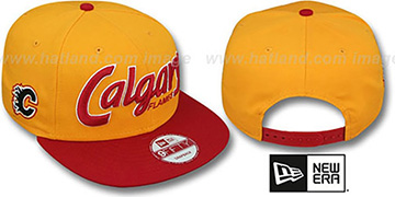 Flames SNAP-IT-BACK SNAPBACK Gold-Red Hat by New Era