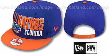 Florida 2T BORDERLINE SNAPBACK Royal-Orange Hat by New Era