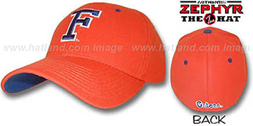 Florida 'DH' Fitted Hat by ZEPHYR - orange